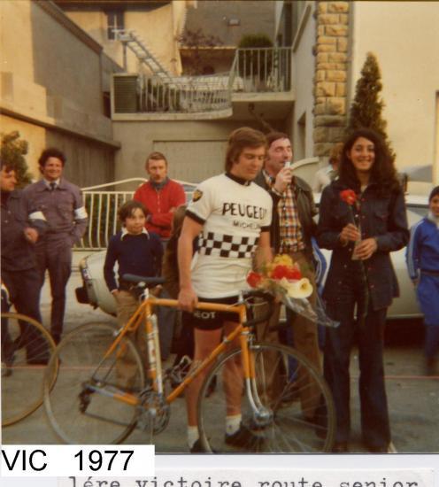 1ère VICTOIRE EN SENIORS  en 1975