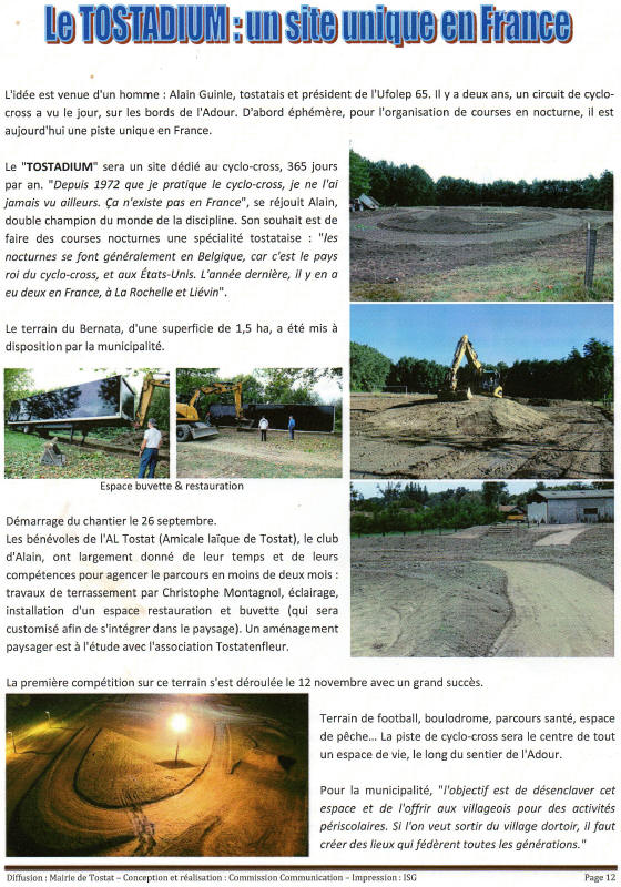Tostadium bulletin municipal